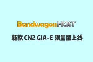 搬瓦工新款CN2 GIA-E限量版套餐重新上线,价格再次上涨,为$99.99/年