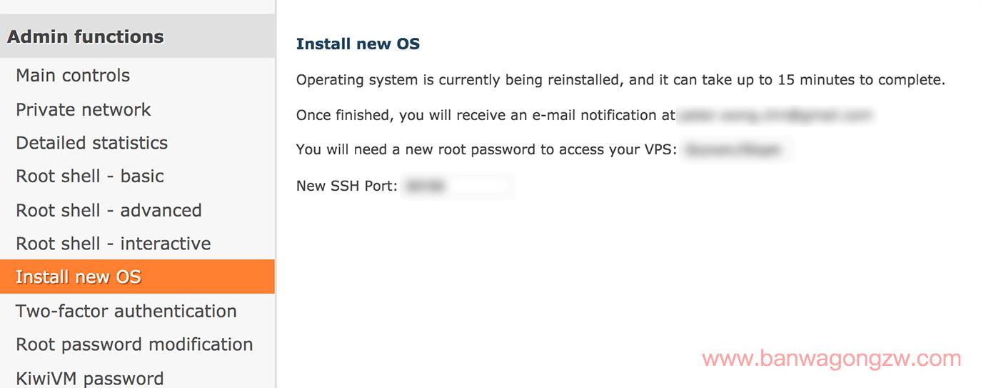 搬瓦工怎么重装系统?搬瓦工 VPS Install new OS 一键重装系统教程